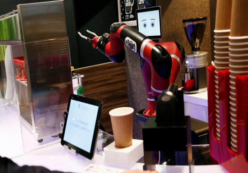 Robô barista no japão